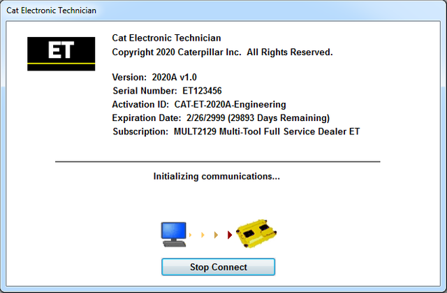 CAT ET 2020A + Factory Password Keygen