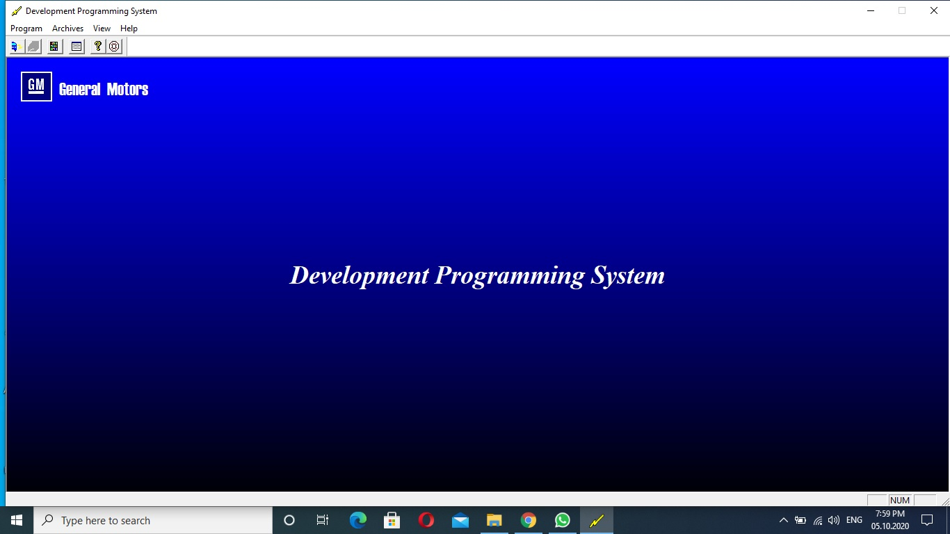 Gm Development Programming System v4.33