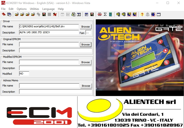 ECM2001 ChipTuning v6.3 + 11500 Drivers