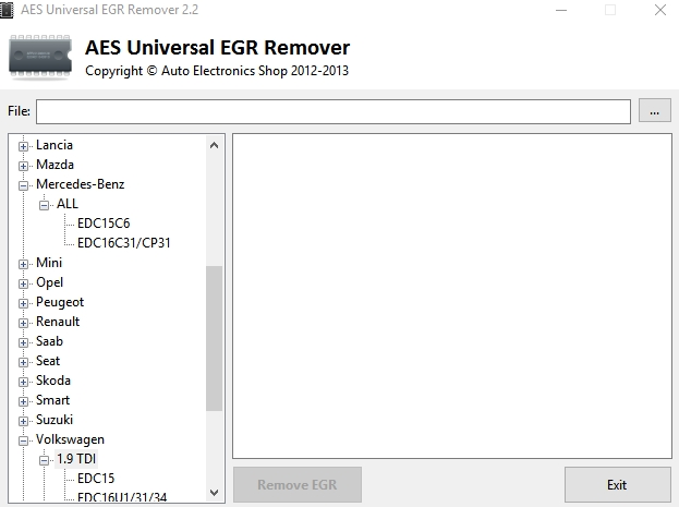 AES Professional EGR Remover