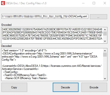 Kummings DESA Config file decrypter