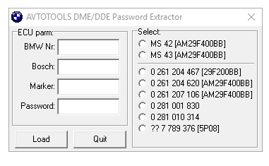 BMW DME-DDE password Extractor