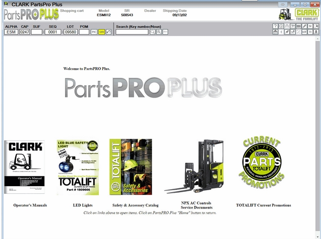 CLARK FORKLIFTS PARTS PRO PLUS 2016