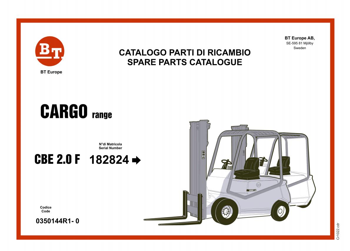BT Forklift Spare Parts Catalogue 2019