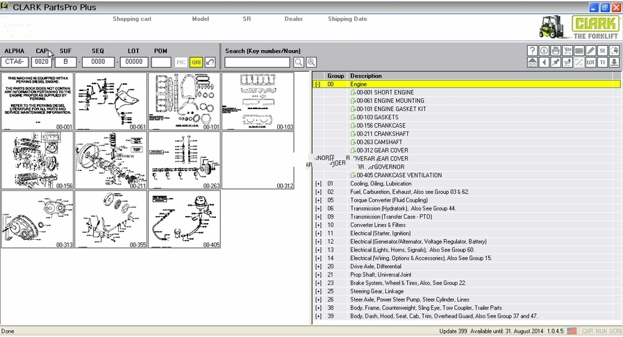 Clark ForkLift Parts Pro Plus v444 [03 2017], CarSoftDiag