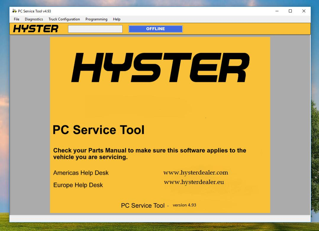 Hyster PC Service Tool v4.93 2019