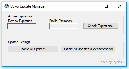 Tech Tool Volvo Update Manager