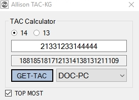 ALLISON DOC 14 & 13 TAC keygen