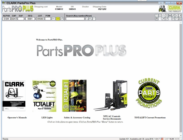 Clark ForkLift Parts Pro Plus v444 [03.2017]